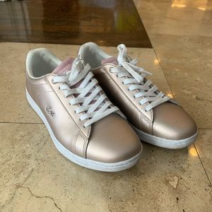 Lacoste Rose Gold Sneakers